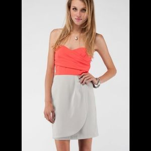 Tobi Minuet Sweetheart Strapless Two Tone Dress